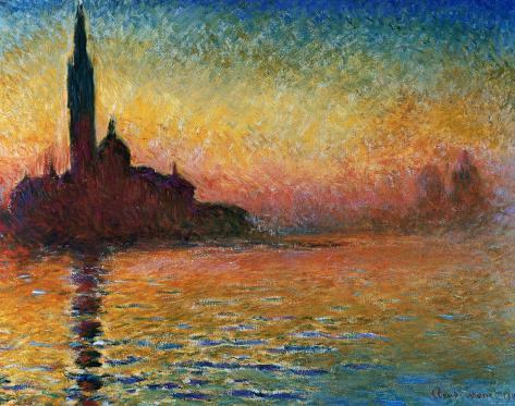 Puesta de sol en Venecia Lámina