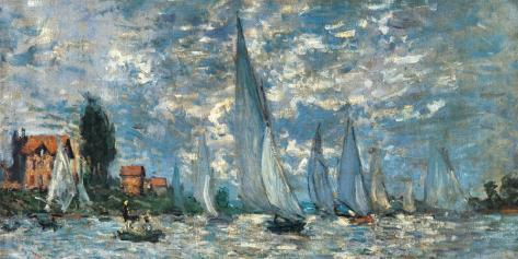 Regatta in Argenteuil Stretched Canvas Print