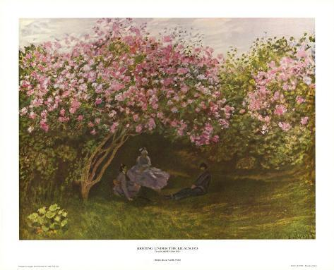 Resting Under the Lilacs Art Print