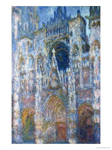Rouen Cathedral, Blue Harmony, Morning Sunlight, 1894 Giclee Print