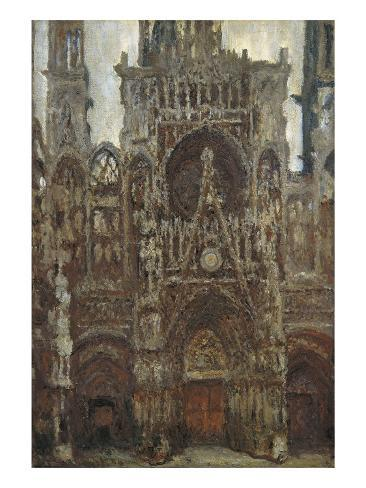 Rouen Cathedral, Evening, Harmony in Brown Art Print