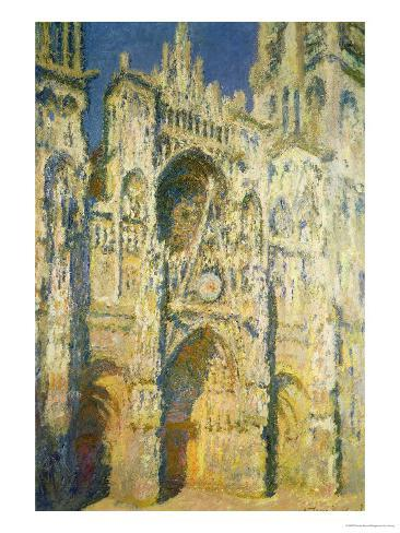 Rouen Cathedral in Full Sunlight: Harmony in Blue and Gold, 1894 Giclee Print