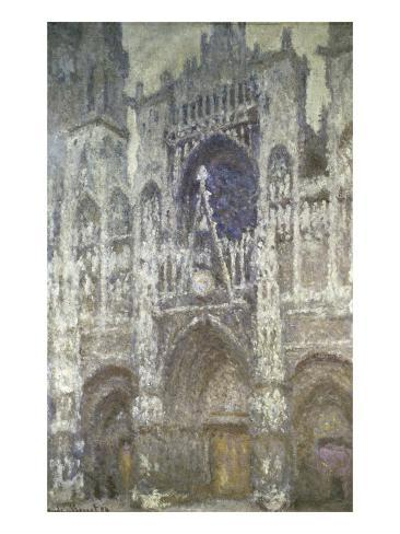 Rouen Cathedral (The Portal, Gray Weather) Giclee Print