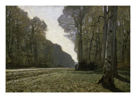 Route Du Bas-Breau Giclee Print