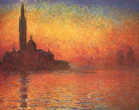 San Giorgio Maggiore by Twilight, c.1908 Art Print
