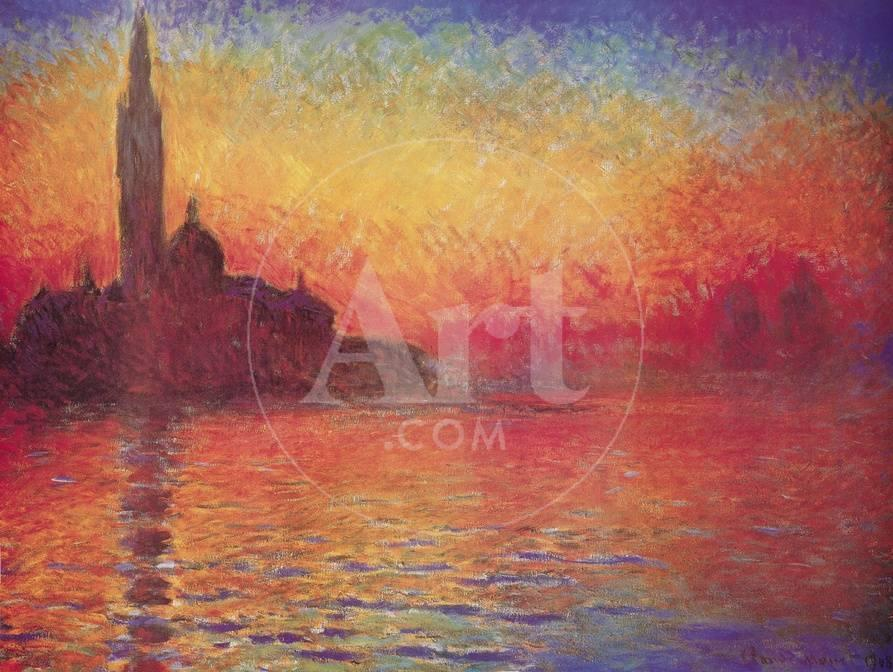 San Giorgio Maggiore By Twilight Dusk In Venice C 1908 Prints Claude Monet At Allposters