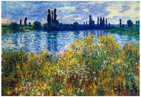 Claude Monet Seine Shores at Vetheuil Art Print Poster Poster