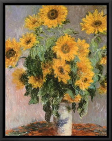 Sunflowers, c.1881 Impressão em tela emoldurada