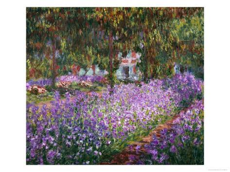 The Artist's Garden At Giverny, c.1900 Giclee Print