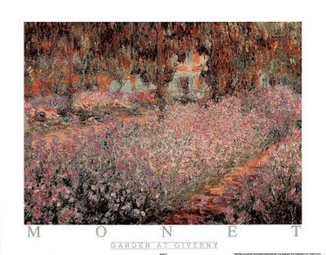 The Artist's Garden At Giverny, c.1900 Mini Poster