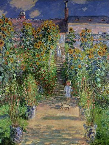 The Artist's Garden at Vetheuil, 1880 Giclee Print