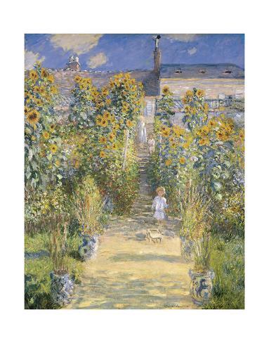 The Artist's Garden at Vetheuil, 1880 Art Print