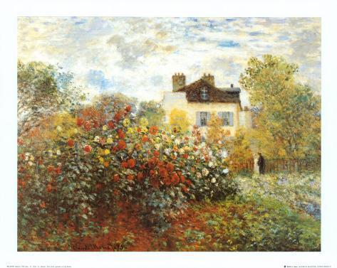 The Artist's Garden in Argenteuil Art Print
