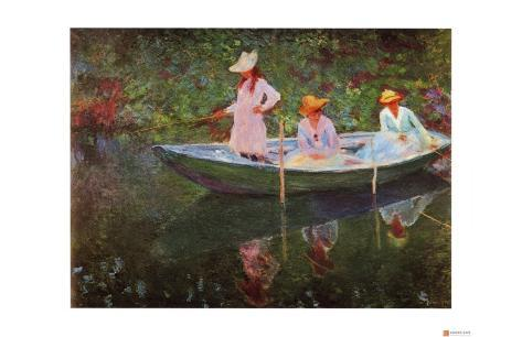 The Boat at Giverny Giclee Print