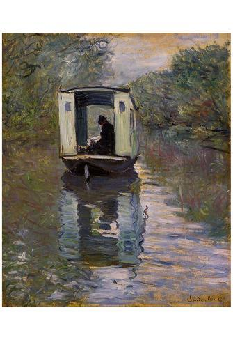 Claude Monet (The Boat Studio) Art Poster Print Póster