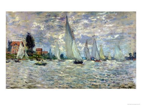 The Boats, or Regatta at Argenteuil, circa 1874 Giclee Print