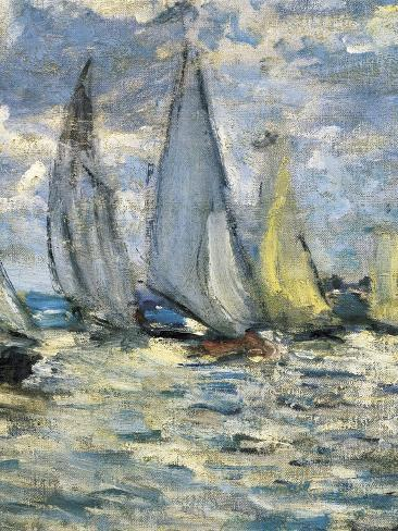 The Boats, or Regatta at Argenteuil Art Print
