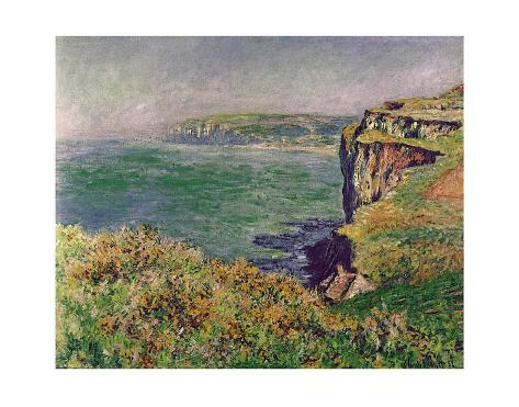 The Cliff at Varengeville, c.1882 Impressão artística