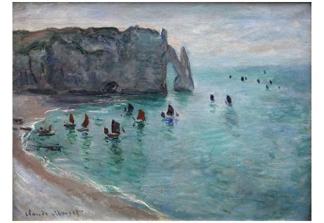Claude Monet (The Cliffs at Etretat) Art Poster Print Poster