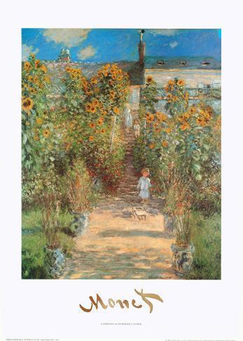 The Garden at Vetheuil Art Print