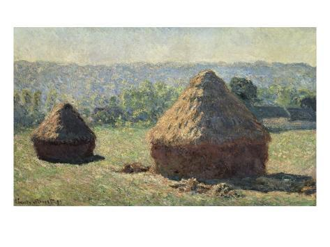 The Haystacks, or the End of the Summer, at Giverny Art Print
