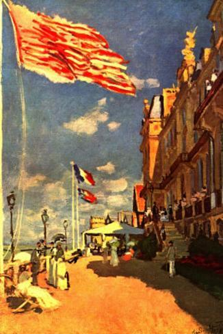 Claude Monet The Hotel of the Roches Noires Art Print Poster Masterprint