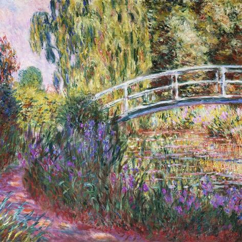 The Japanese Bridge, Pond with Water Lillies; Le Pont Japonais Bassin Aux Nympheas Giclee Print