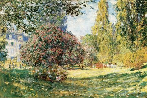 The Parc Monceau, Paris, c.1876 Reproducción de lámina sobre lienzo
