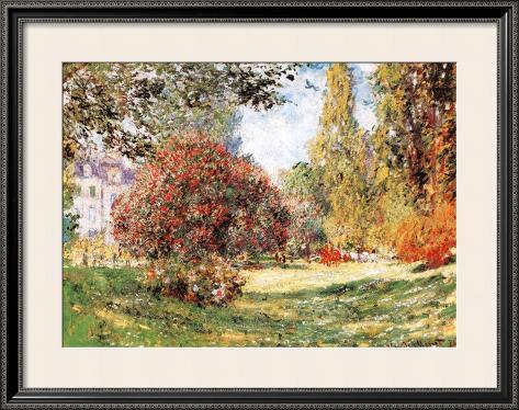 The Park at Monceau Framed Art Print