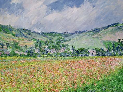 The Poppy Field Near Giverny, 1885 Giclee Print
