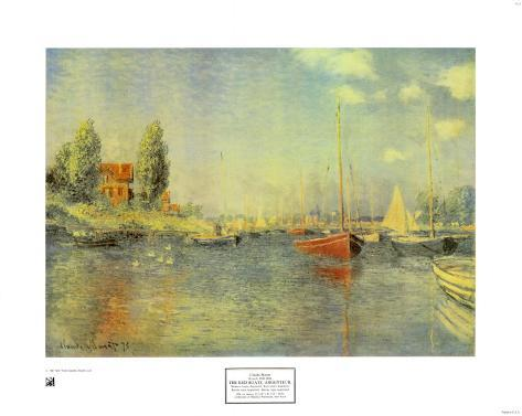 The Red Boats Art Print
