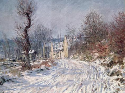 The Road to Giverny, Winter, 1885 Giclee Print