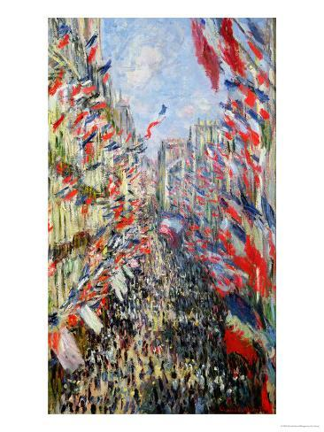 The Rue Montorgueil, Paris, Celebration of June 30, 1878 Giclee Print