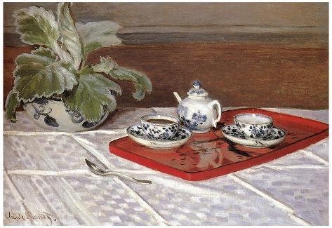 Claude Monet The Tea Set Art Print Poster Poster