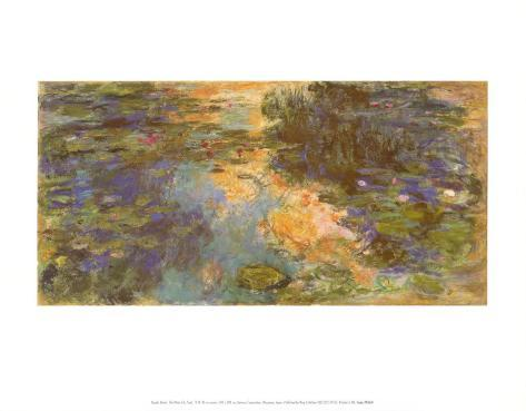The Water Lily Pond, 1918 Art Print
