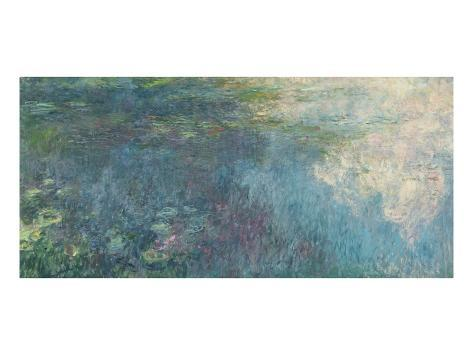 The Waterlilies - the Clouds, 1914-18 Lámina giclée