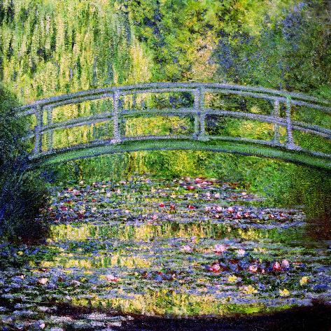 The Waterlily Pond with the Japanese Bridge, 1899 Giclee Print
