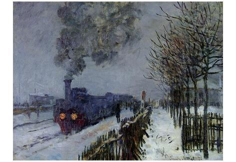 Claude Monet (Train in the Snow) Art Poster Print Poster