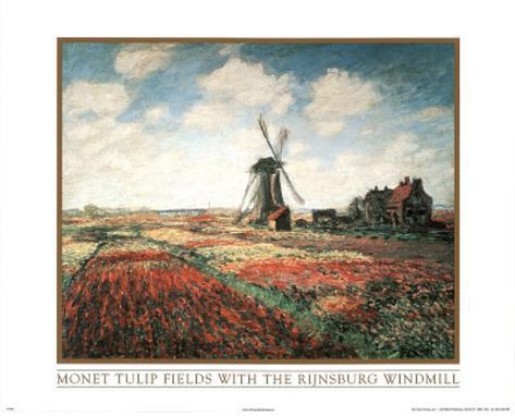 Claude Monet (Tulip Fields) Art Print Poster Poster