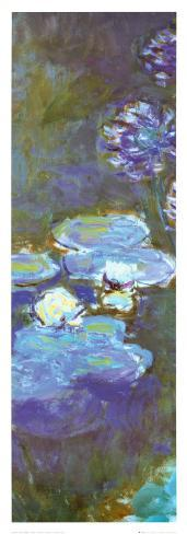 Water Lilies and Agapanthus (detail) Art Print