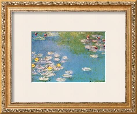 Water Lilies, c.1908 (detail) Framed Art Print