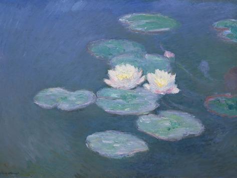 Waterlilies, Evening Giclee Print