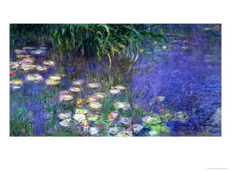 Waterlilies (Les Nympheas), Study of the Morning Water Giclée-vedos