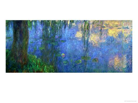 Waterlilies, Morning with Willows Giclee Print