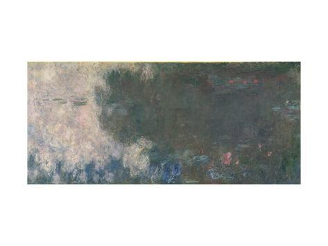 Waterlilies - the Clouds, 1914-18 Lámina giclée