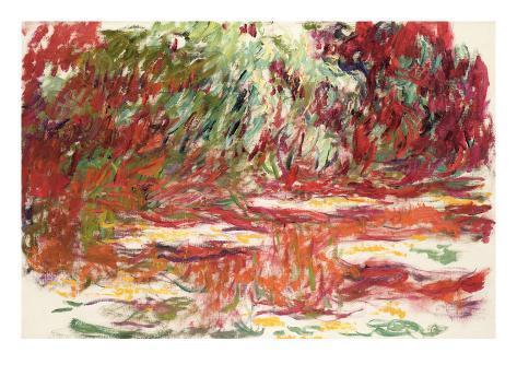 Waterlily Pond, 1918-19 Lámina giclée
