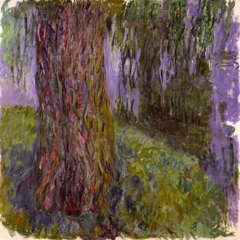 Weeping Willow and the Waterlily Pond, 1916-19 Lámina giclée