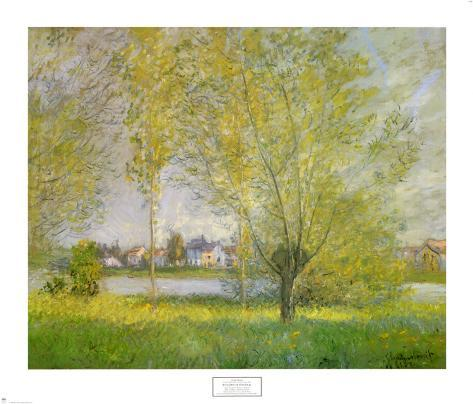 Willows of Vetheuil Art Print