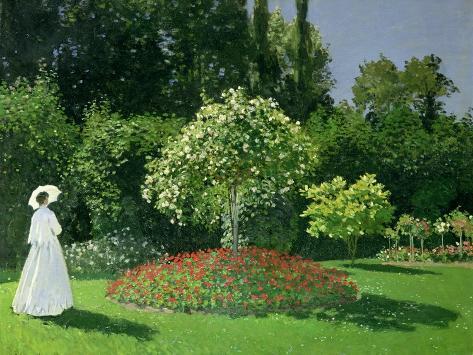 Woman in a Garden, 1867 Giclee Print
