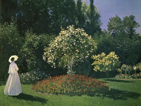 Woman in a Garden Giclee Print